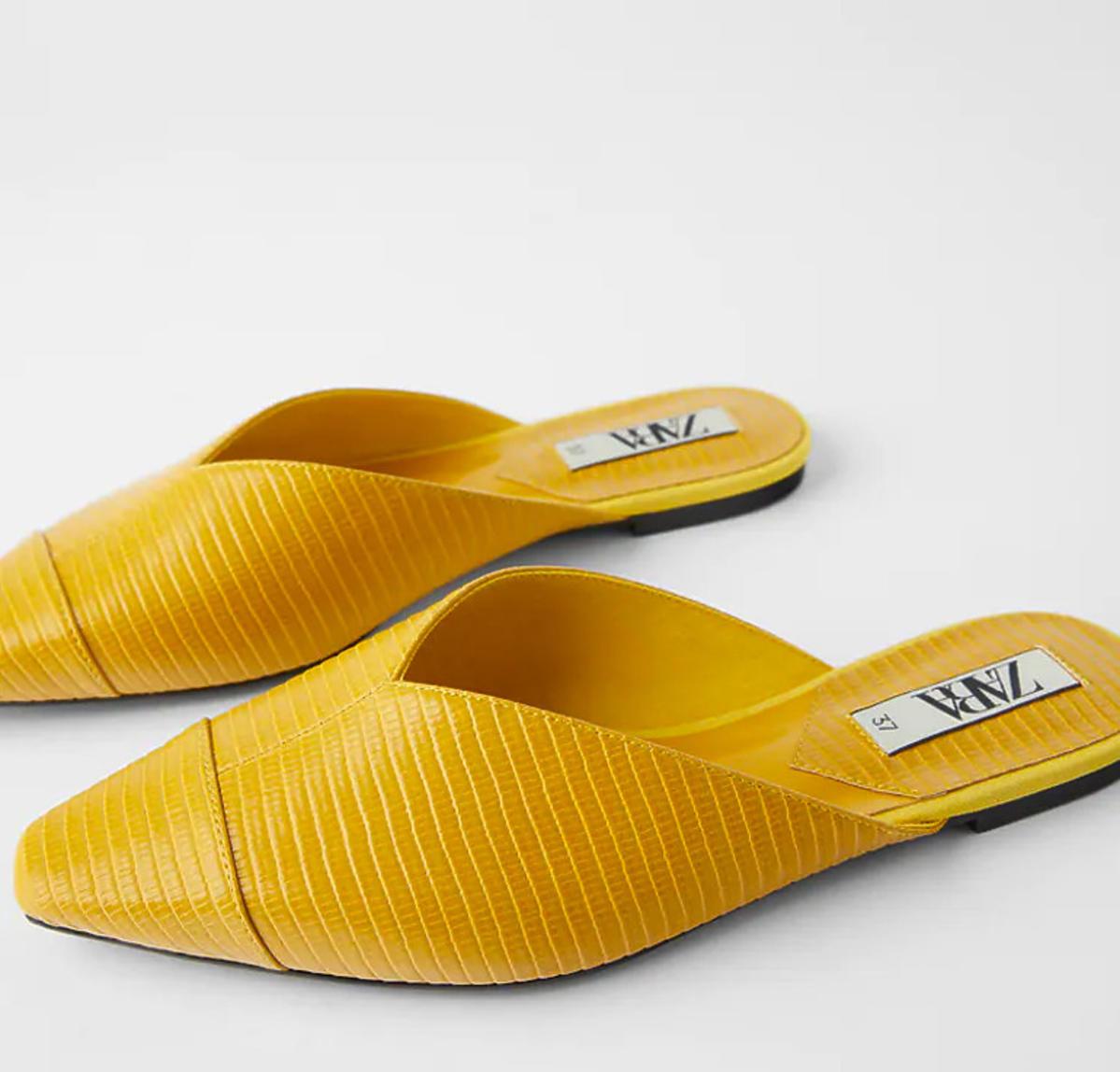 Żółte klapki Zara, wyprzedaż, 49,90 zł