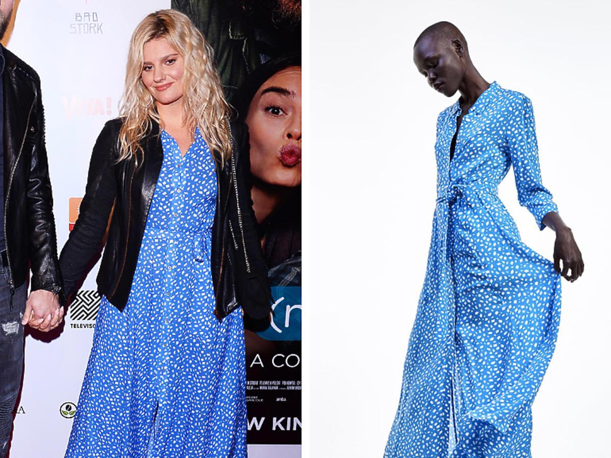 Zosia Zborowska w niebieskiej sukience z Zary