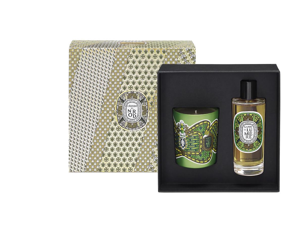 Zesatw świeca Cerf Sapin 190 g + perfumy do wnętrz, Dyptique, 495 zł