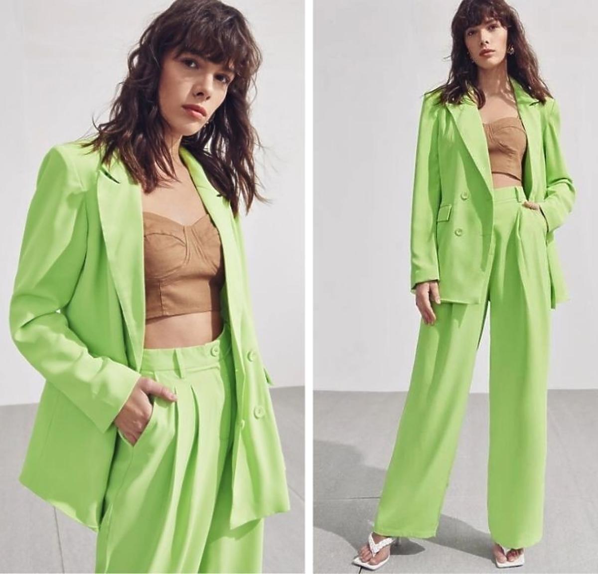 Neonowy garnitur Shein
