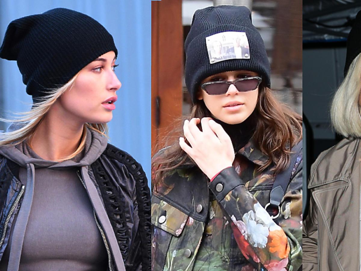 Gwiazdy w czapkach: Hailey Baldwin, Kaia Gerber, Rita Ora