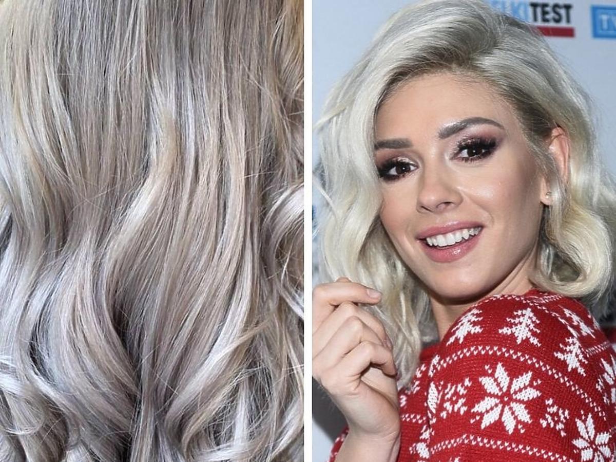 Trendy 2020: najmodniejsze koloryzacje /Silver Blonde, Klaudia Halejcio