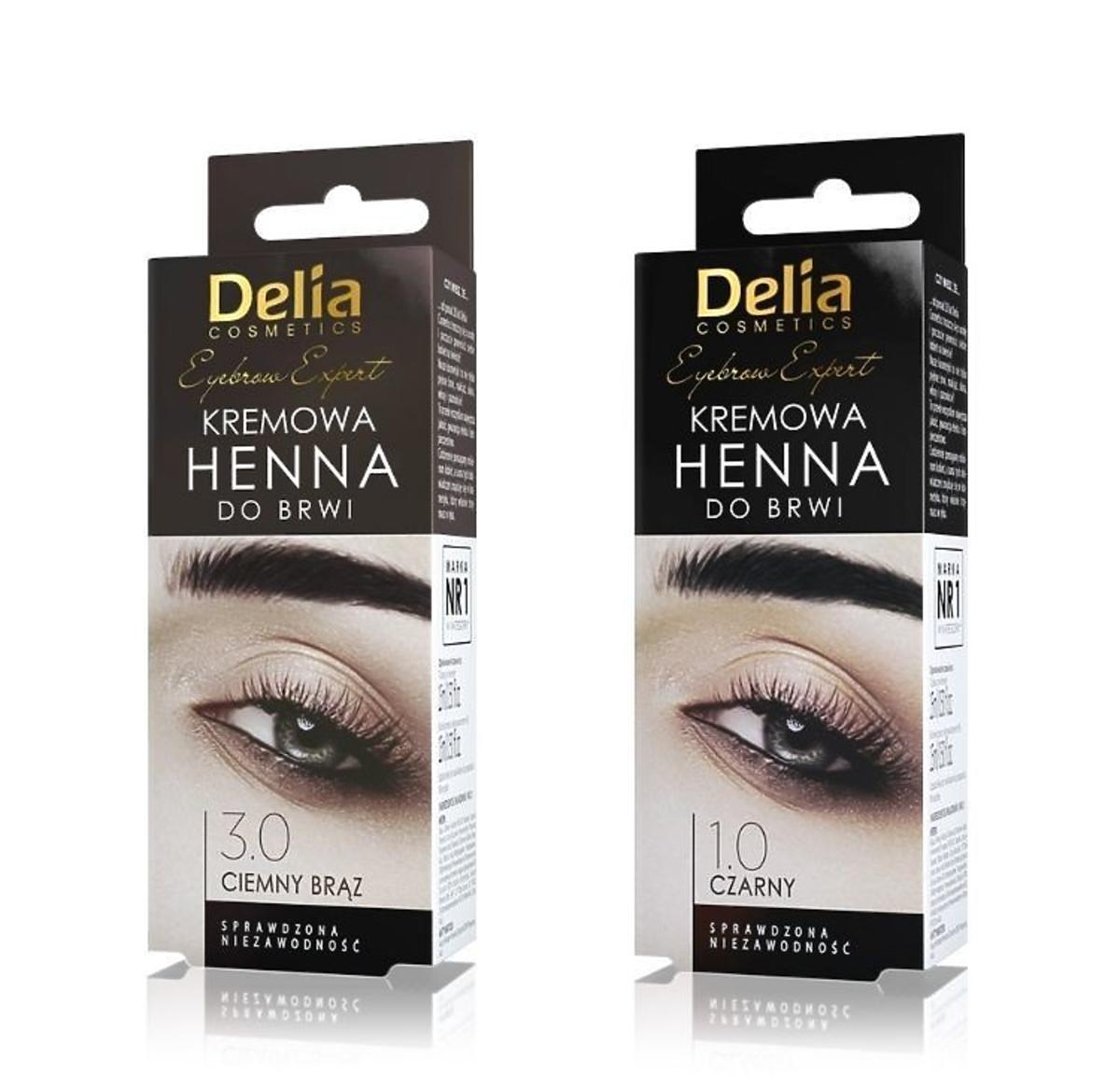 Henna do brwi w kremie Delia