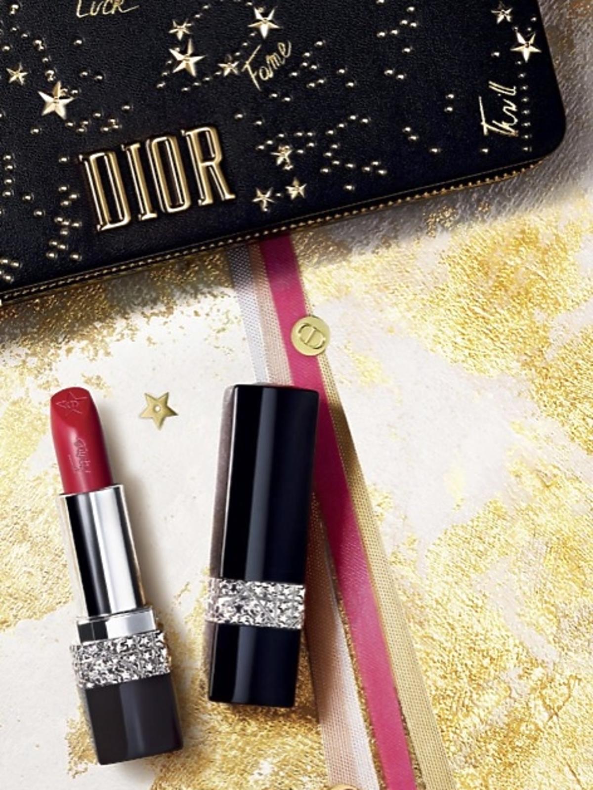 Kosmetyczka i kolekcja szminek Rouge Dior Couture Collection Midnight Wish