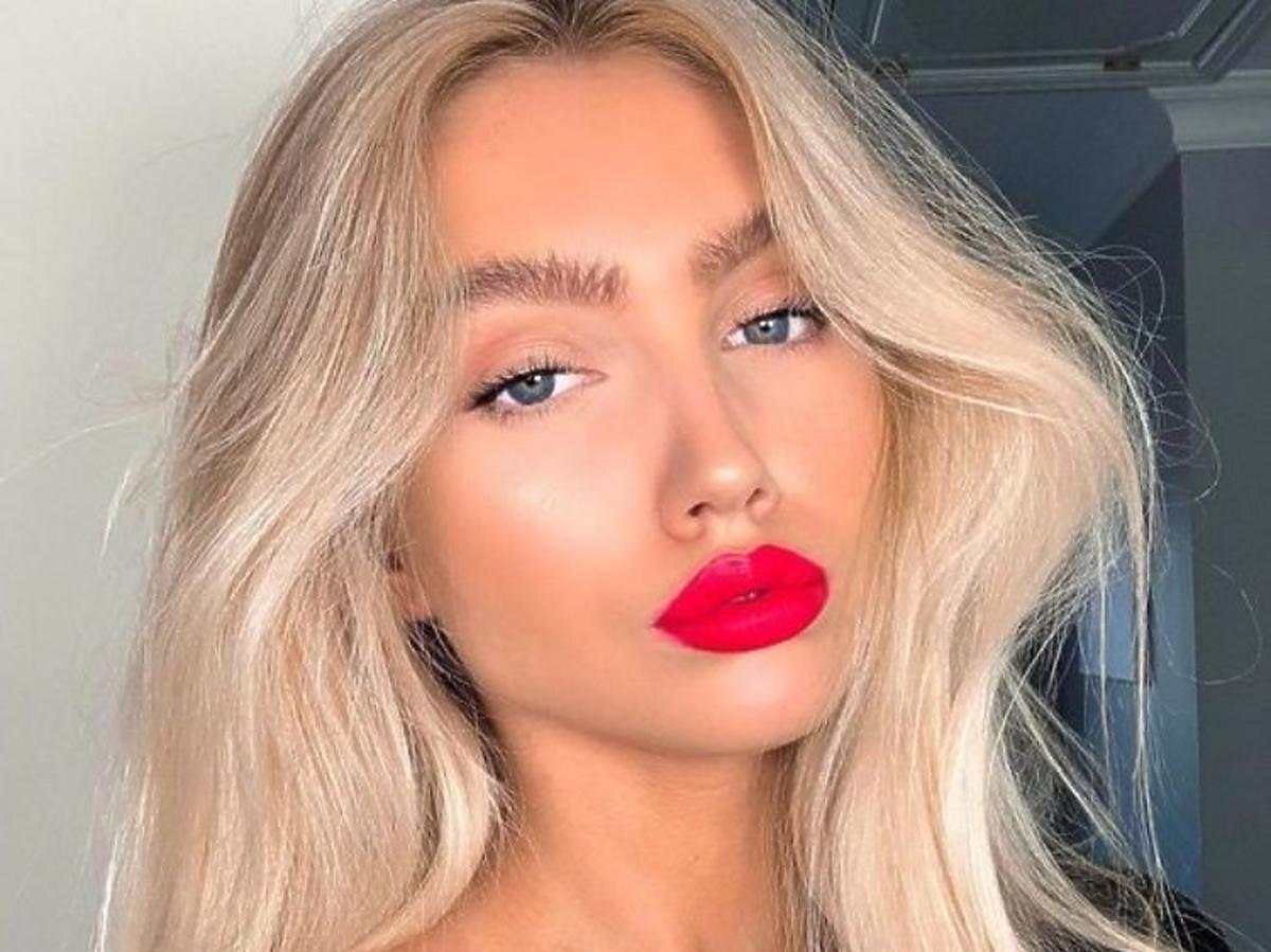 Makijaż z czerwoną pomadką
