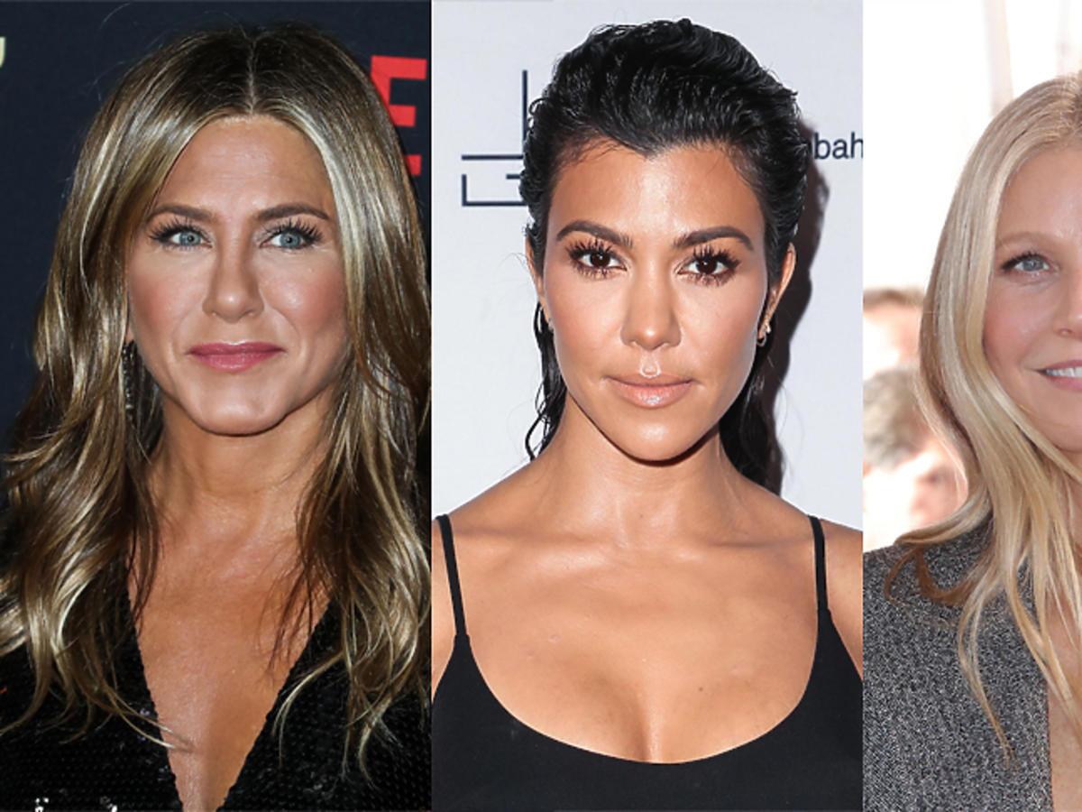 Jennifer Aniston, Kourtney Kardashian,  Gwyneth Paltrow