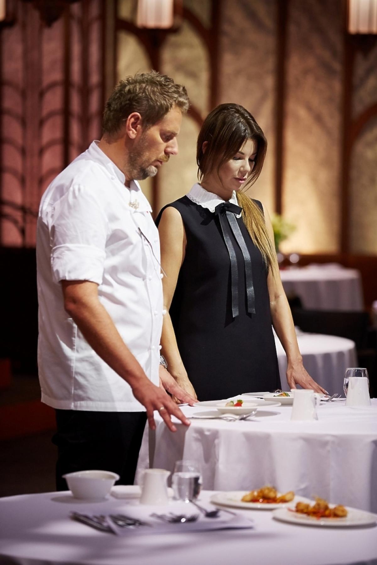 Edyta Górniak, Wojciech Modest Amaro oceniają dania uczestników Hell's Kitchen