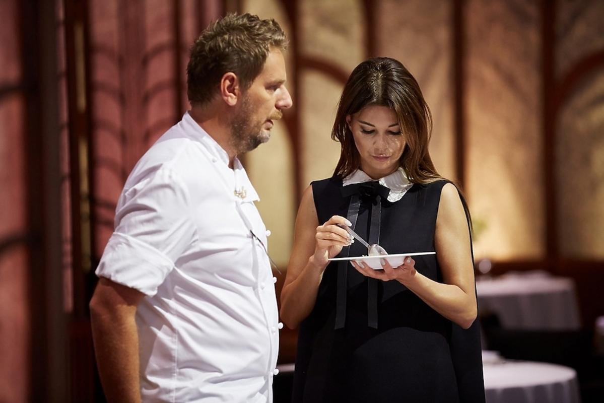 Edyta Górniak, Wojciech Modest Amaro rozmawiają na planie Hell's Kitchen