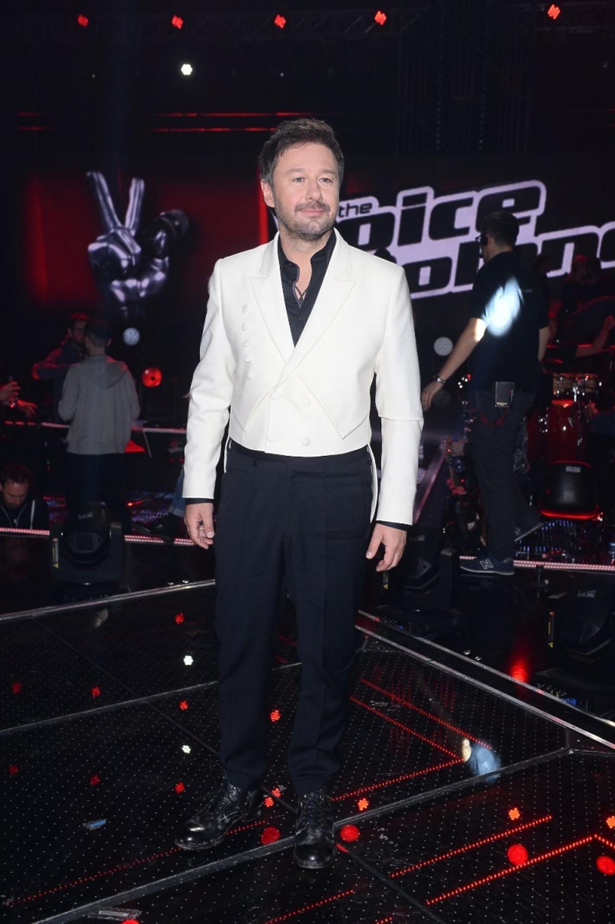 Andrzej Piaseczny na planie The Voice of Poland