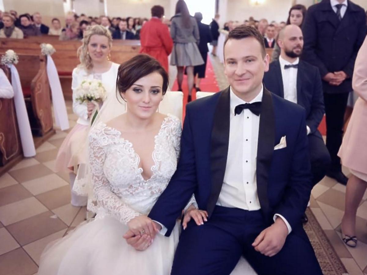 Ania i Grzegorz z Rolnik szuka żony w kościele w dniu ślubu