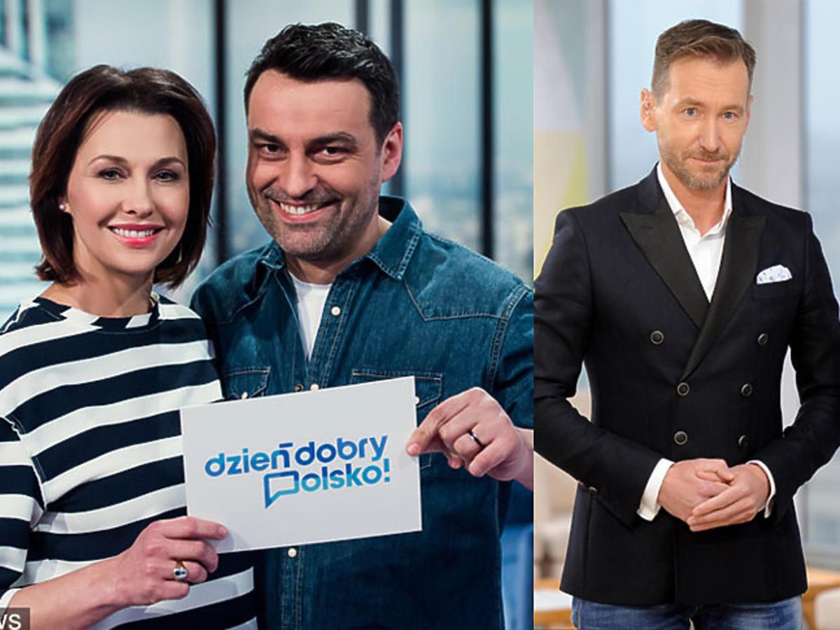 Anna Popek i Tomasz Mandes w Dzień dobry Polsko, Kinga Rusin i Piotr Kraśko w DDTVN