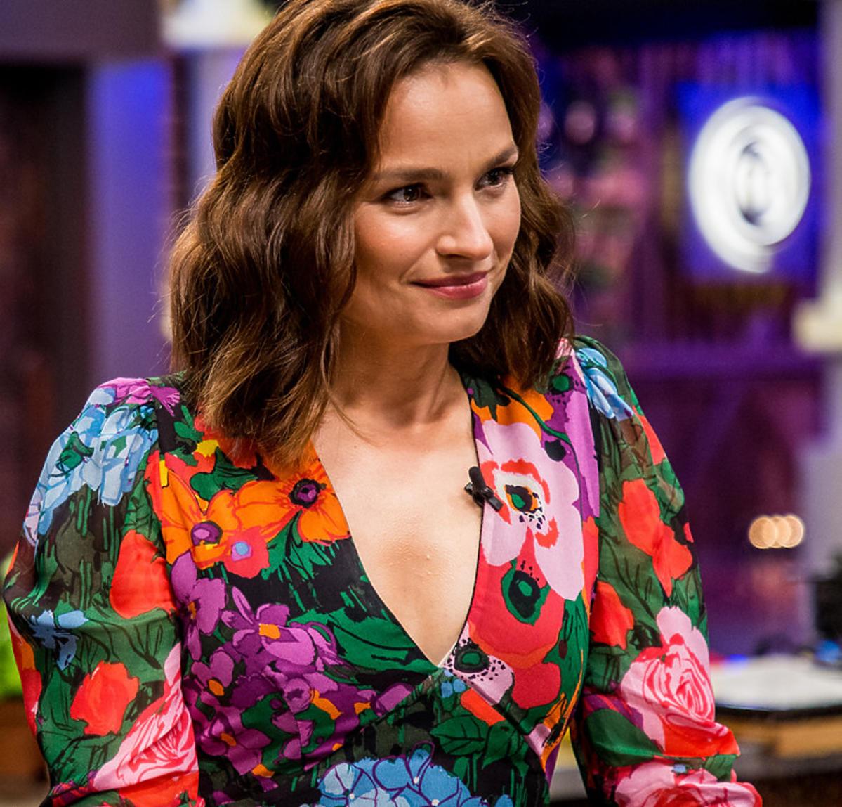 Anna Starmach w MasterChefie w sukience w kwiaty