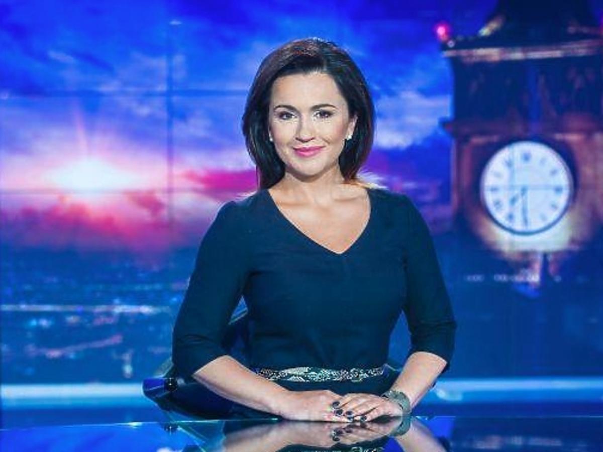 Beata Tadla prowadzi Wiadomości