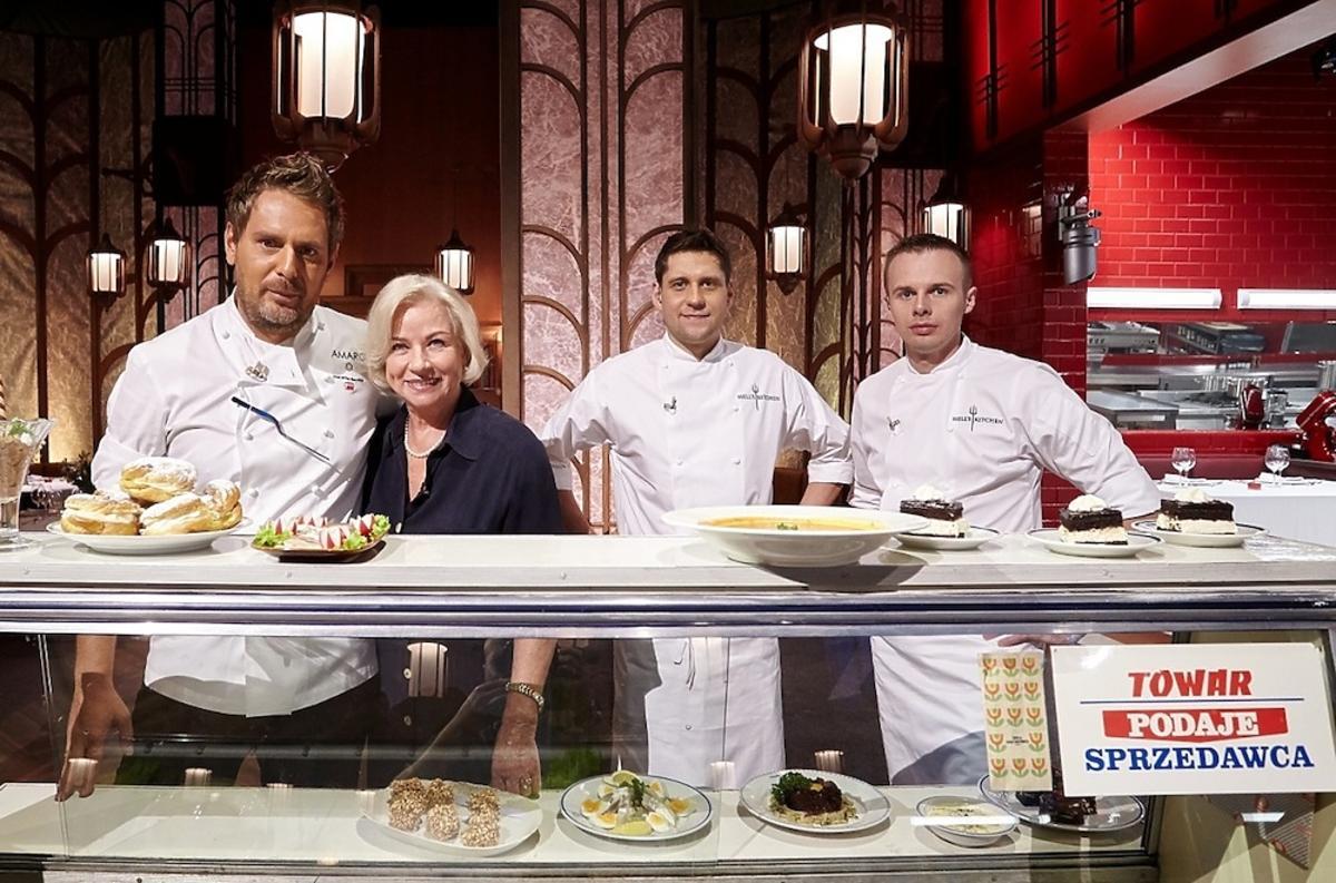 Bożena Dykiel w kuchni Hell's Kitchen