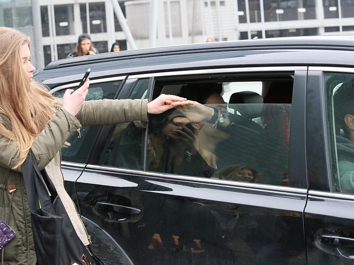 Dawid Kwiatkowski w samochodzie