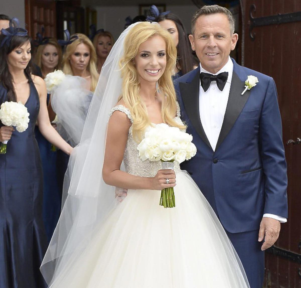Izabela Janachowska na swoim ślubie z Krzysztofem Jabłońskim