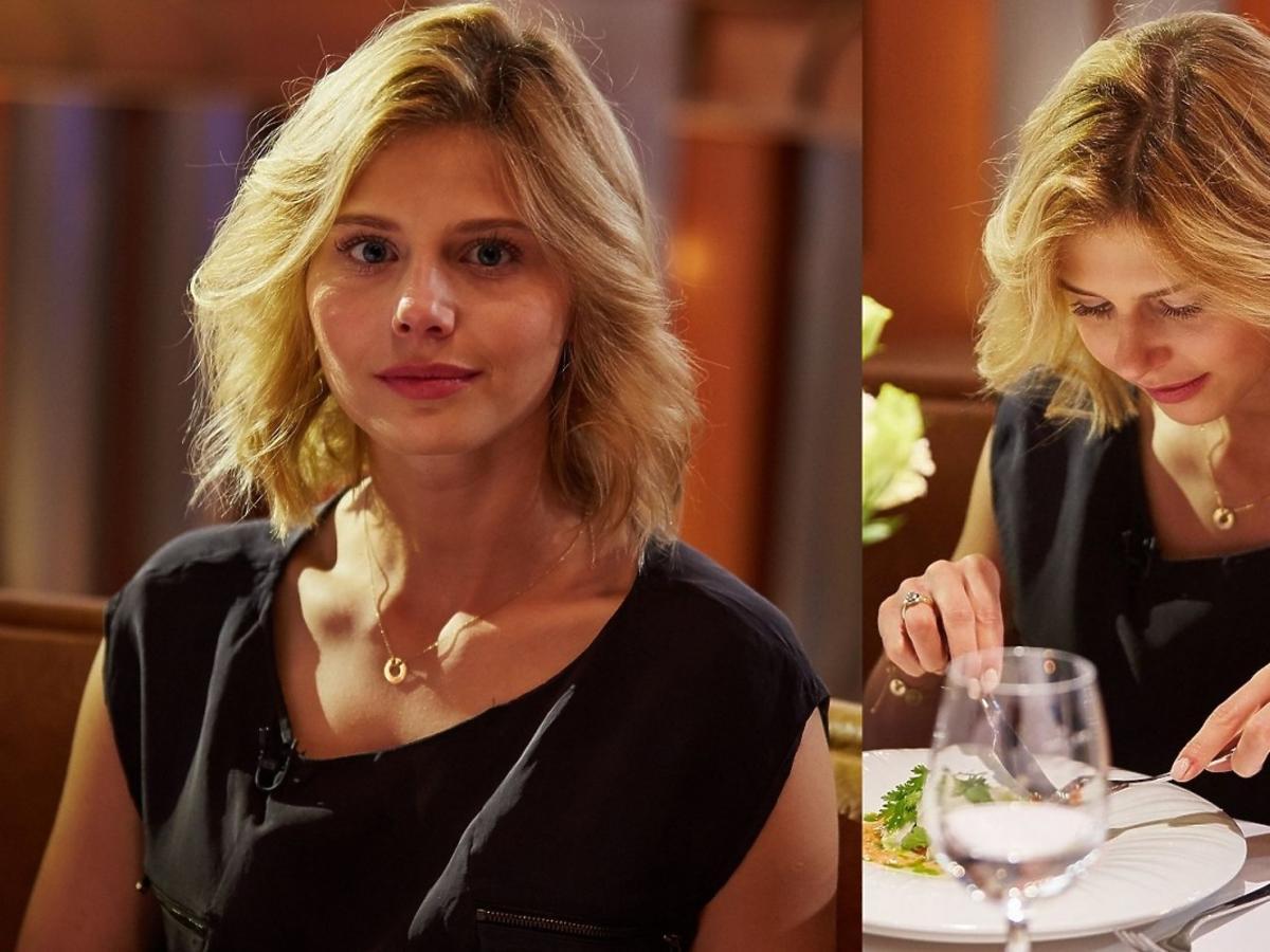 Izabela Zwierzyńska na kolacji