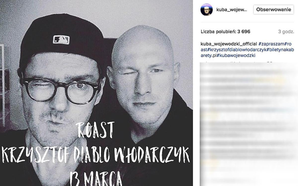 Kuba Wojewódzki zapowiada roast z Krzysztofem Diablo Włodarczykiem