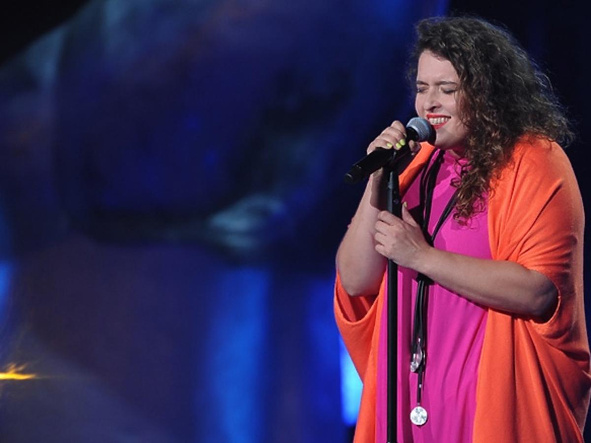 Małgorzata Bernatowicz na planie The Voice of Poland