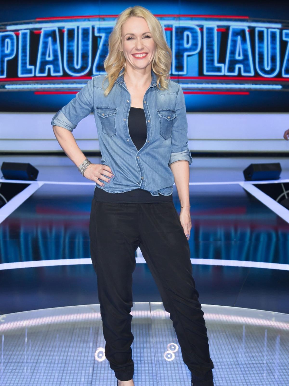 Małgorzata Ohme w jeansowej koszuli