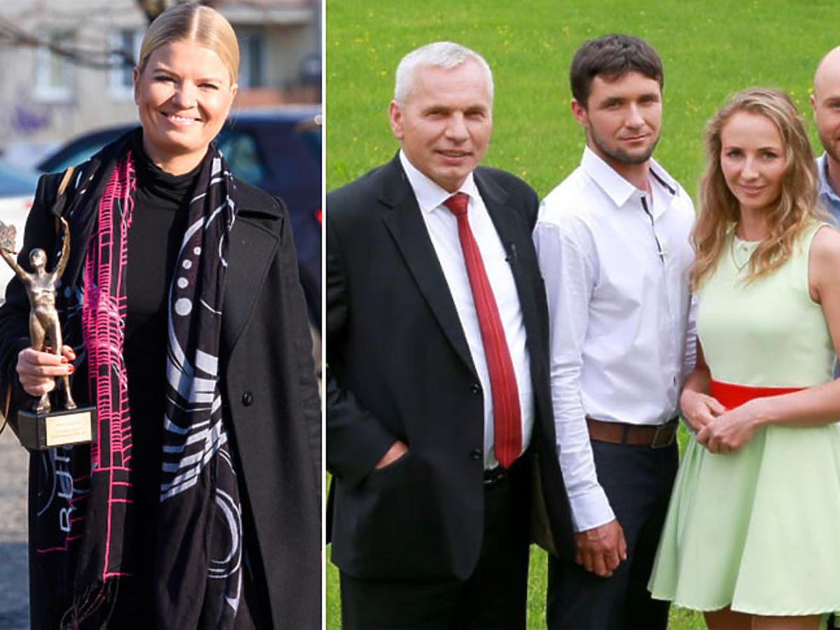 Marta Manowska i uczestnicy Rolnik szuka żony na planie show