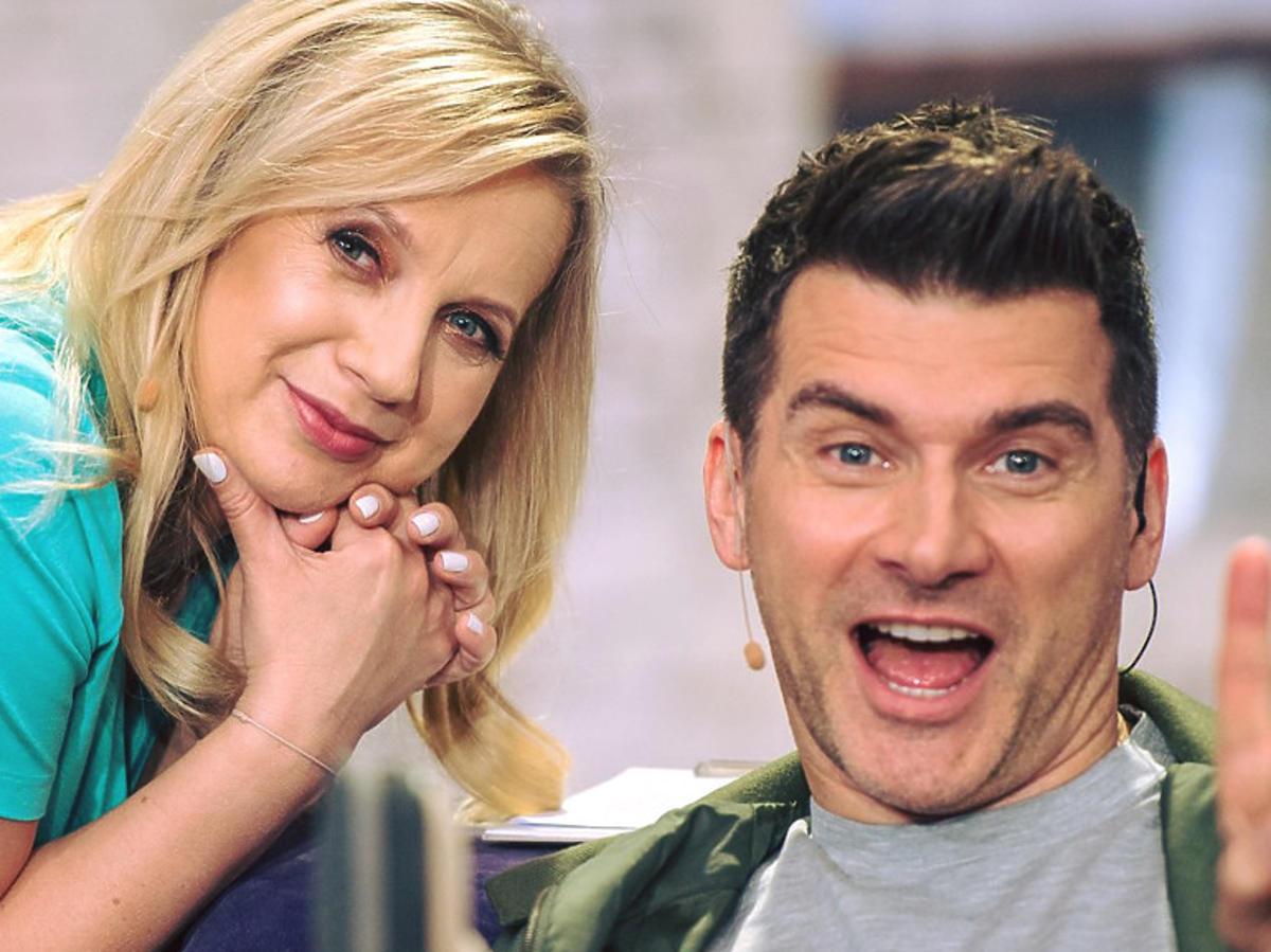 Marzena Rogalska i Tomasz Kammel w Pytaniu na śniadanie uśmiechnięci