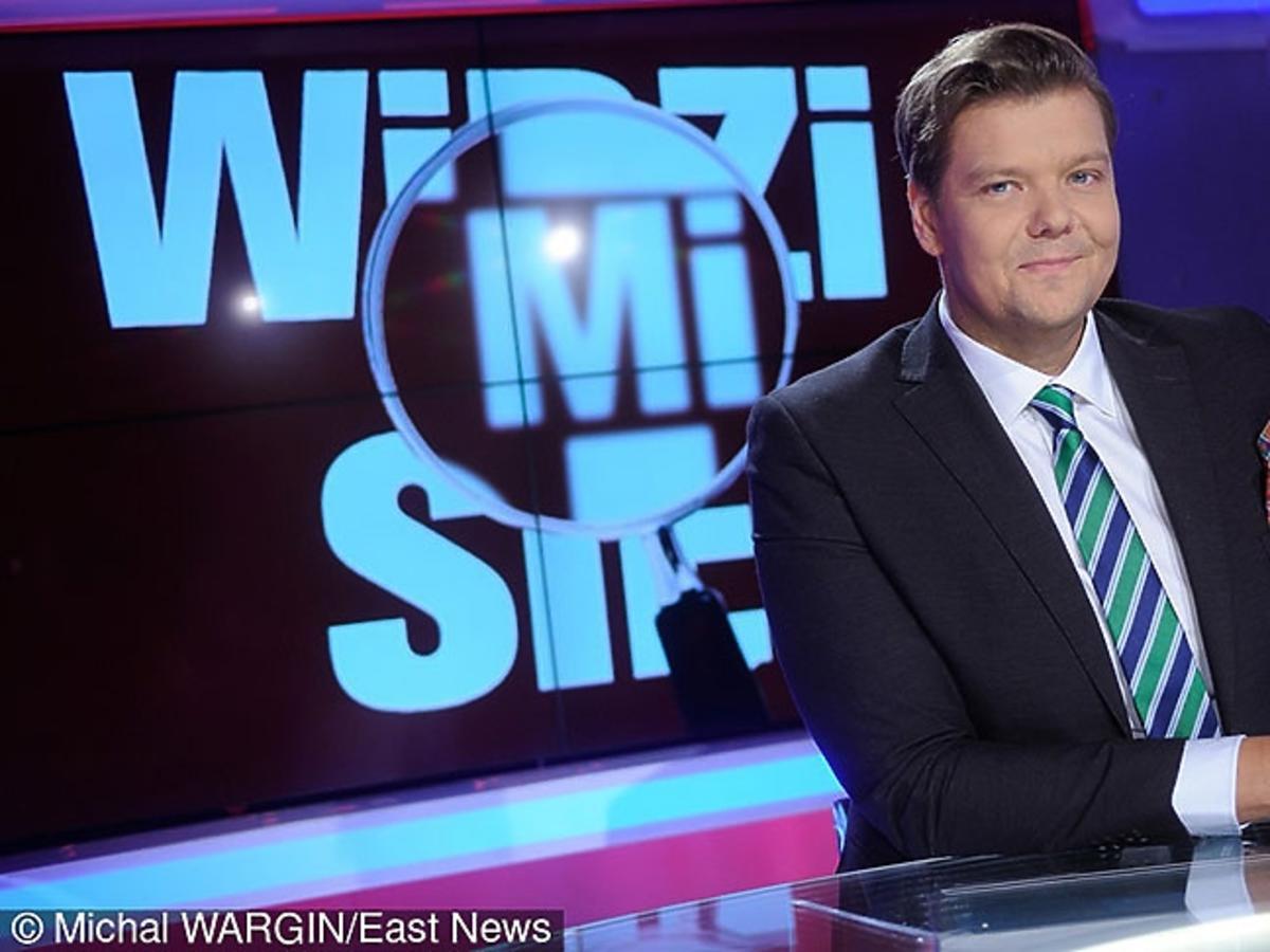 Michał Figurski wraca do pracy na planie programu Polsat News