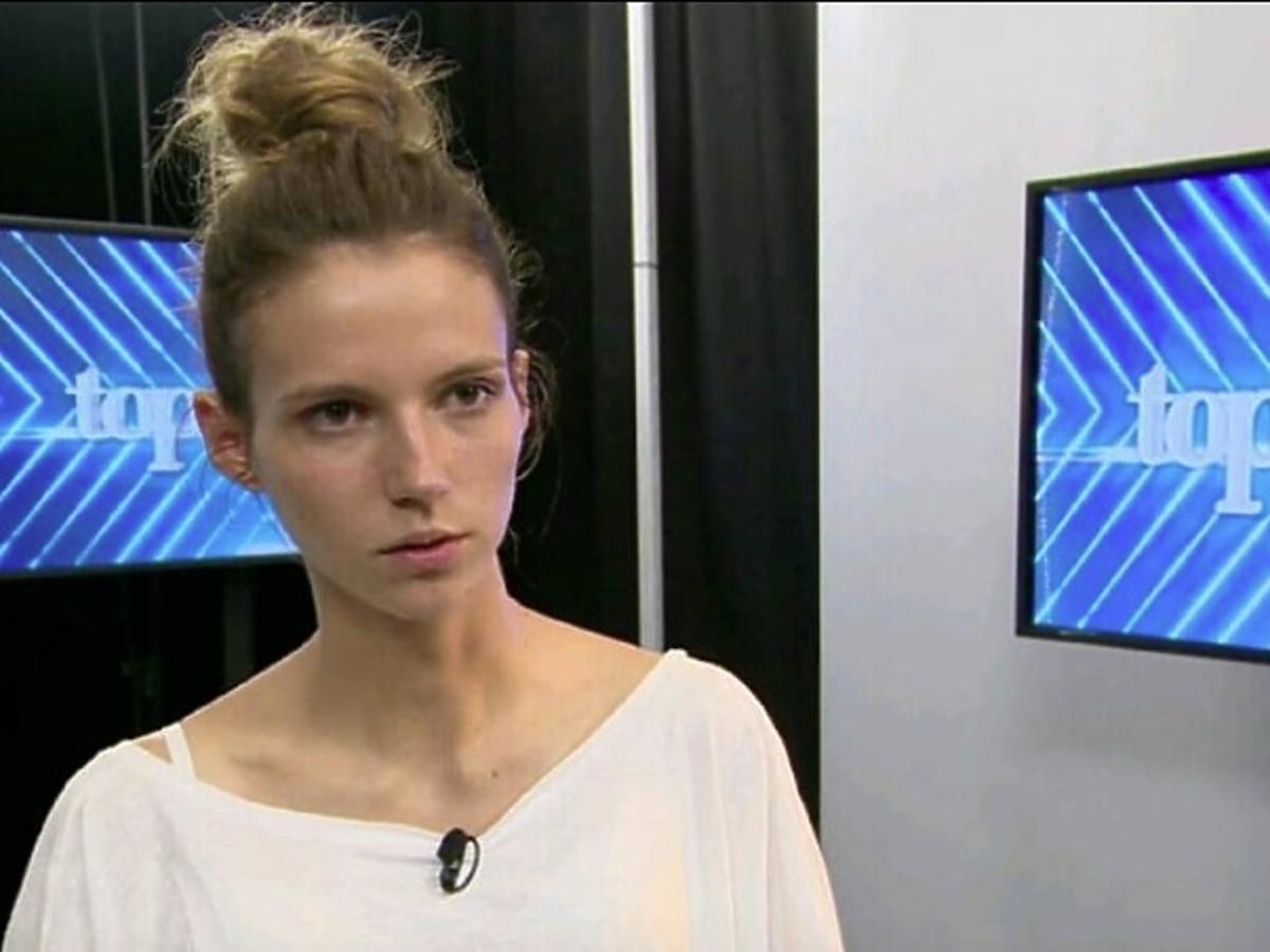 Natalia Gulowska w programie Top model